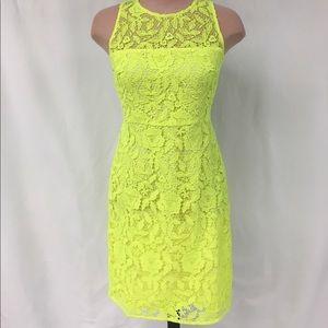 J. Crew bright yellow lace dress!!